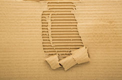 Torn corrugated carboard sheet background Stock Images