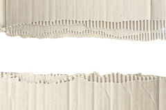 Torn corrugated cardboard Stock Image