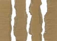 Torn Corrugated Cardboard Royalty Free Stock Images