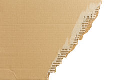 Torn corrugated cardboard. Royalty Free Stock Photos