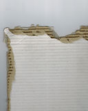 Torn corrugated cardboard background Stock Photos