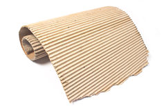 Torn corrugated cardboard Stock Photography