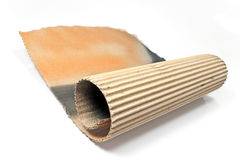 Torn corrugated cardboard Royalty Free Stock Photos