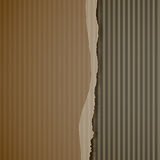 Torn corrugated cardboard Royalty Free Stock Photography