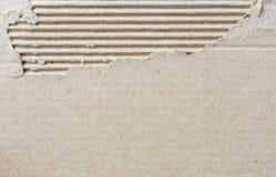 Torn corrugated cardboard Stock Photography
