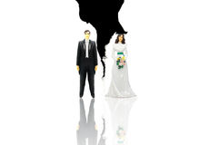 Torn couple Royalty Free Stock Images