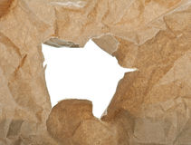 Torn craft paper background Royalty Free Stock Photography