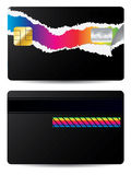 Torn credit card Stock Images