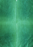 Torn and crumpled green paper Royalty Free Stock Images
