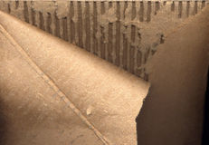 Torn and Damaged Cardboard Box Royalty Free Stock Photos