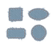 Torn Denim Patches Royalty Free Stock Images