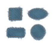 Torn Denim Patches Royalty Free Stock Photos