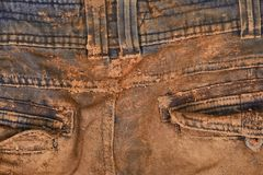 Trousers with mud Stock Photos