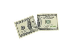 Torn dollar Stock Photography