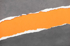 Torn edge paper with space for your message. Torn edge paper with orange copyspace for your message stock photography