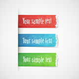 Torn edge paper stickers Royalty Free Stock Images