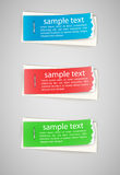 Torn edge paper stickers Royalty Free Stock Photo