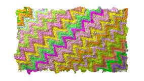 Torn edged colorful zigzag paper with rough texture stock illustration
