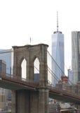 Torn ett WTC Tom Wurl för Brooklyn bro Arkivbilder
