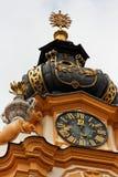 torn för abbeyklockstapelmelk Arkivbild