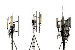 Torn för antenn för kommunikationstorn som isoleras på vit Royaltyfri Bild