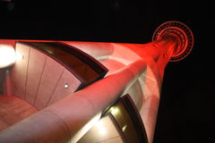 torn för auckland nattsky royaltyfri foto