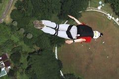 torn för banhoppningkl-skydiver Arkivbild