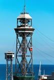 torn för barcelona kabelbilar Royaltyfri Fotografi