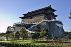 Torn för Beijing cityscapeQianmen port Royaltyfri Foto