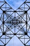 torn för berörings för blå sky för bakgrund Arkivfoto