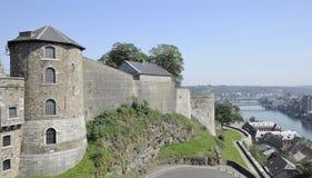 torn för cittadellenamur ramparts royaltyfri bild