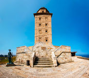 torn för corunahercules la Royaltyfri Bild
