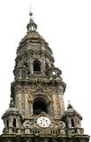 torn för domkyrkacompostelade santiago Arkivbild