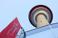 torn för dragningscalgary turist Royaltyfri Fotografi