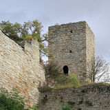 torn för eckartsburggermany romanesque Arkivbilder