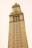 torn för eget hus för klocka Arkivfoton