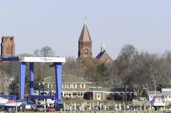Torn för Fairhaven stadshusklocka Royaltyfria Foton