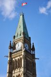 torn för fred för byggnadsottawa parlament Arkivbild