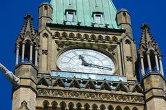torn för fred för byggnadsottawa parlament Fotografering för Bildbyråer