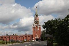torn för fyrkant för spasskaya för kremlin moscow natt rött kremlin moscow Ryssland Royaltyfri Foto