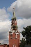 torn för fyrkant för spasskaya för kremlin moscow natt rött kremlin moscow Ryssland Royaltyfri Fotografi