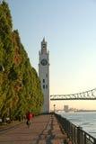 torn för gammal port för klocka fotografering för bildbyråer