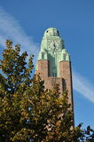 Torn för Helsingfors stenklocka Arkivbild