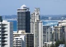 torn för highrise för Australien kustguld Royaltyfri Bild