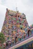 Torn för hinduisk tempel på Pillaiyarpatti i Tamil Nadu Royaltyfri Bild