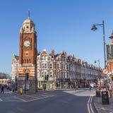 Torn för hopkrupen ställningslutklocka London Royaltyfri Fotografi