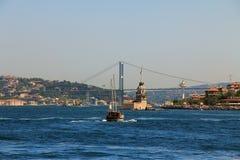 Torn för jungfru s, Turkiet Arkivfoto