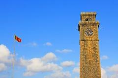 Torn för klocka för Galle fort` s Anthonis - arv för Sri Lanka UNESCOvärld Arkivbilder