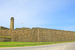 Torn för klocka för Galle fort` s Anthonis - arv för Sri Lanka UNESCOvärld Arkivbild