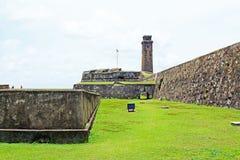 Torn för klocka för Galle fort` s Anthonis - arv för Sri Lanka UNESCOvärld Arkivfoton